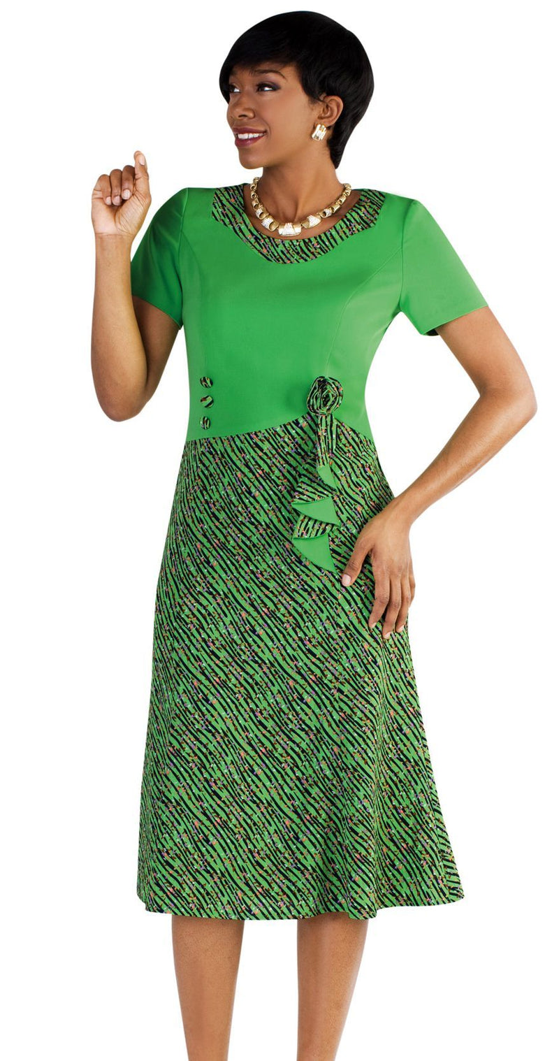 Tally Taylor Dress 9444-Summer Lime - Church Suits For Less