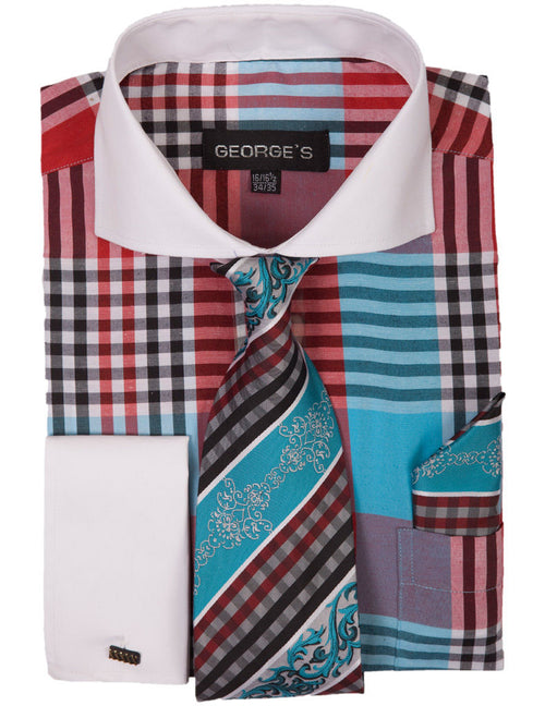 Men Dress Shirt AH626-Aqua