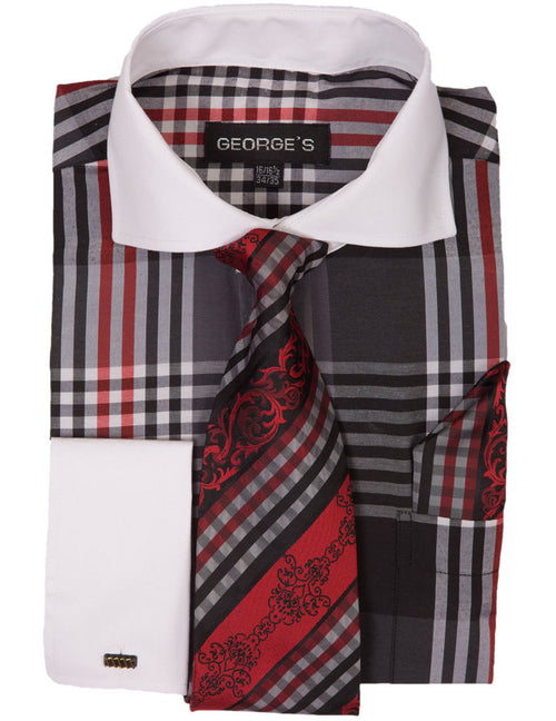 Men Dress Shirt AH626-Black