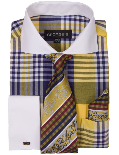 Men Dress Shirt AH626-Gold