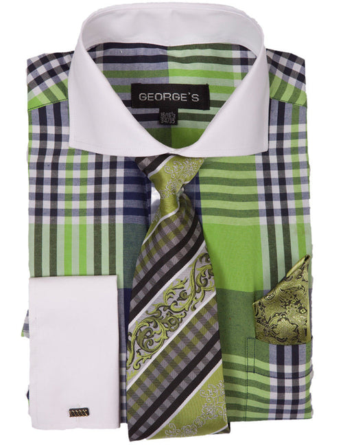 Men Dress Shirt AH626-Lime