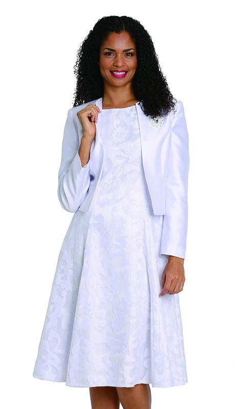 Diana Dress 8138-White - Church Suits For Less