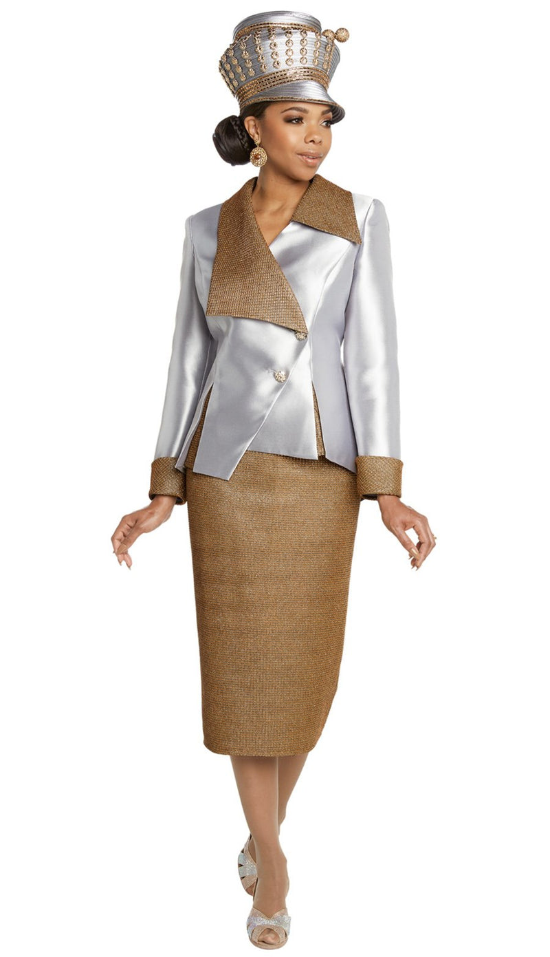 Donna Vinci Skirt Suit 11808 - Church Suits For Less