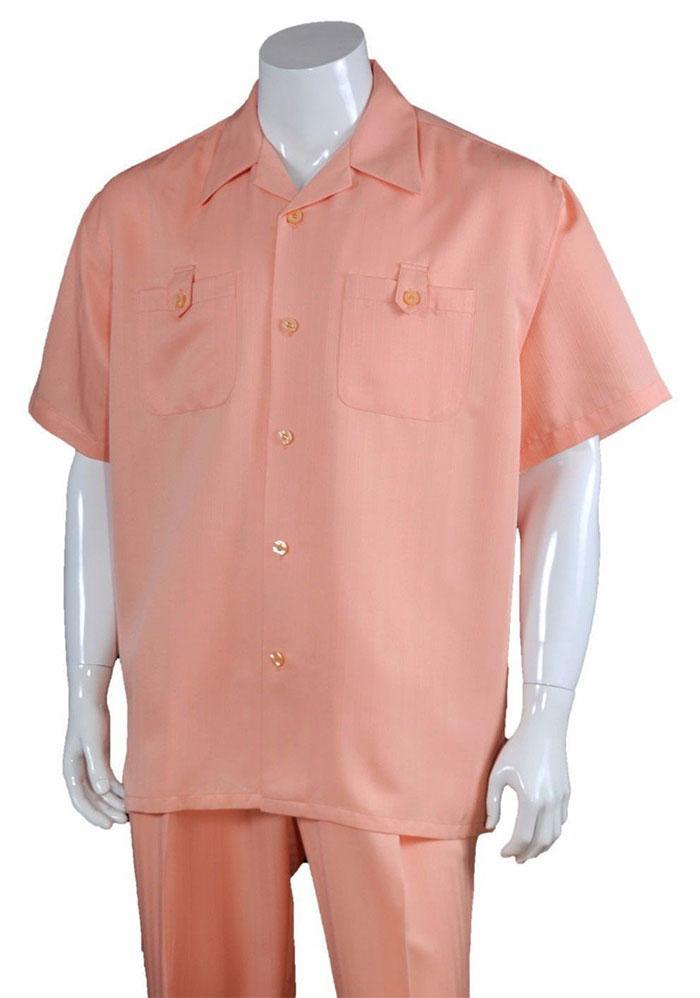 Fortino Landi Walking Set M2963-Peach - Church Suits For Less