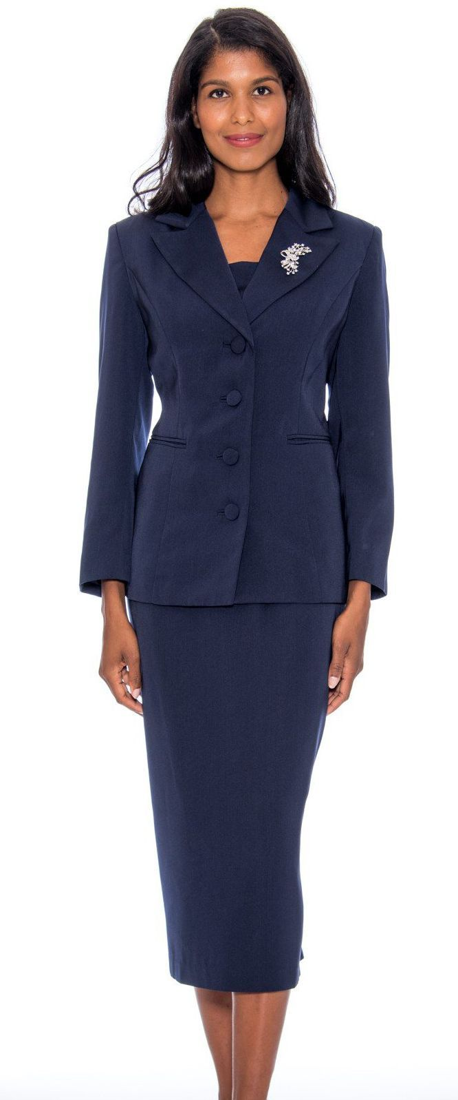 GMI Usher Suit 13382C-Navy - Church Suits For Less