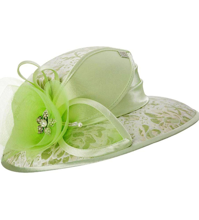 Giovanna Hat H0937-Lime Green - Church Suits For Less