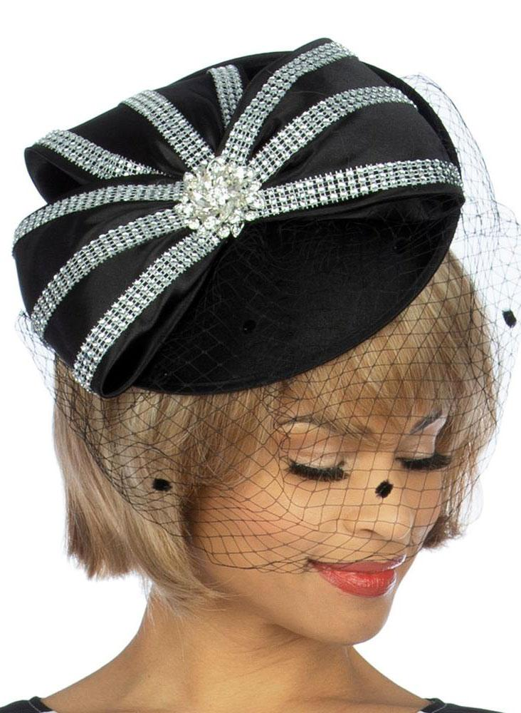 Giovanna Hat HM972-Black - Church Suits For Less