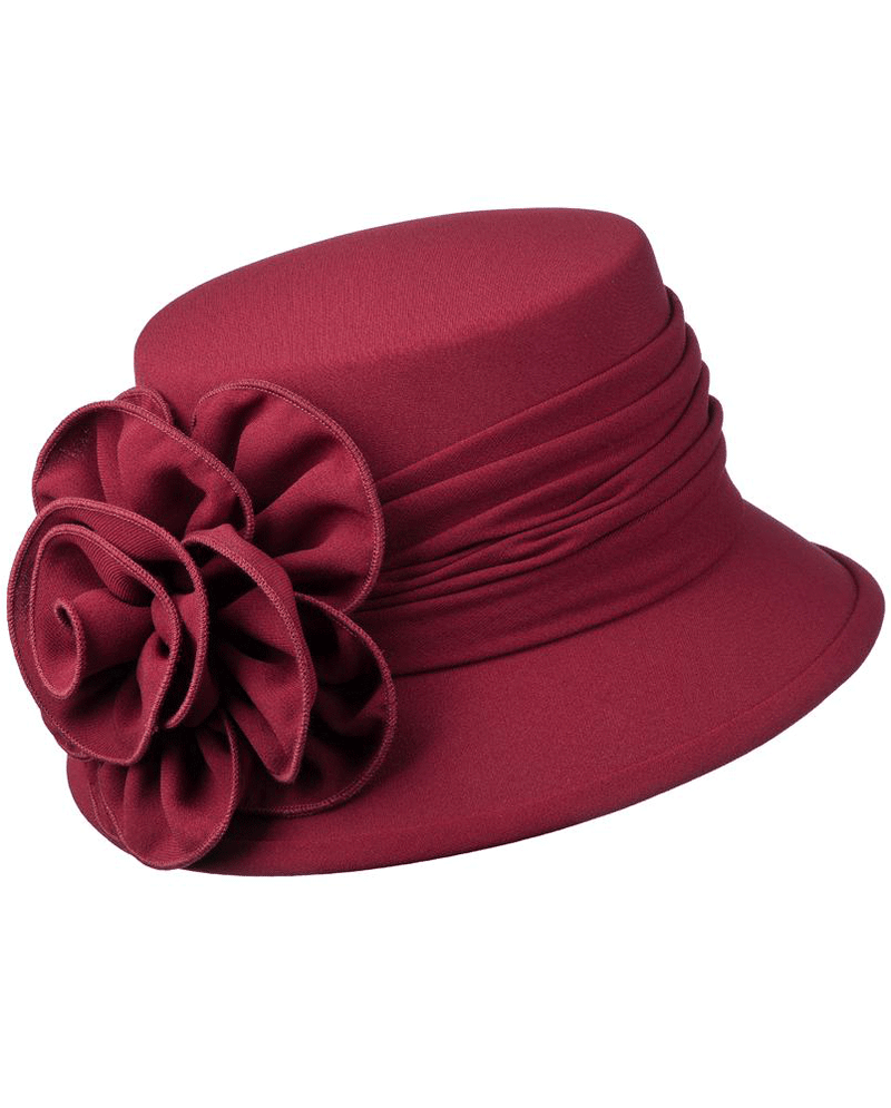 Giovanna Hat HW1007B-Burgundy - Church Suits For Less