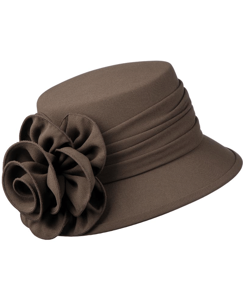 Giovanna Hat HW1007B-Chocolate - Church Suits For Less