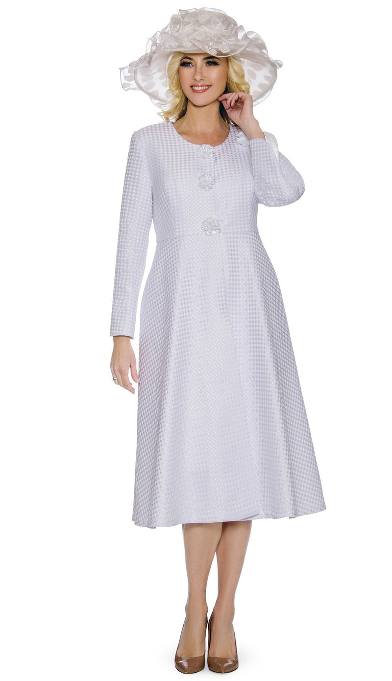 Giovanna Dress 0915-White - Church Suits For Less