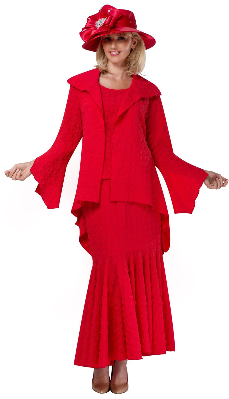 Giovanna Suit 0940C-Red - Church Suits For Less