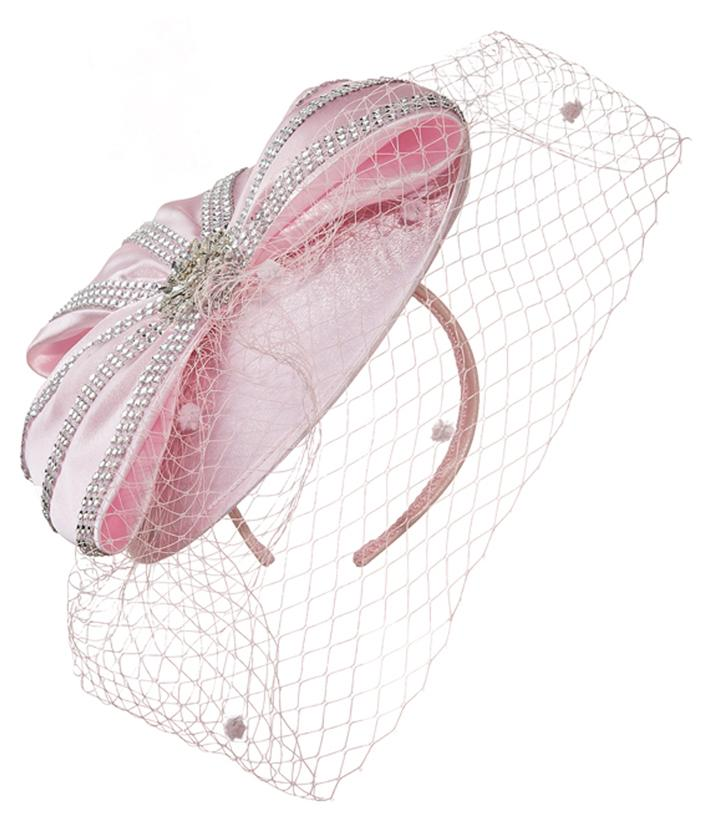 Giovanna Hat HM972-Pink - Church Suits For Less