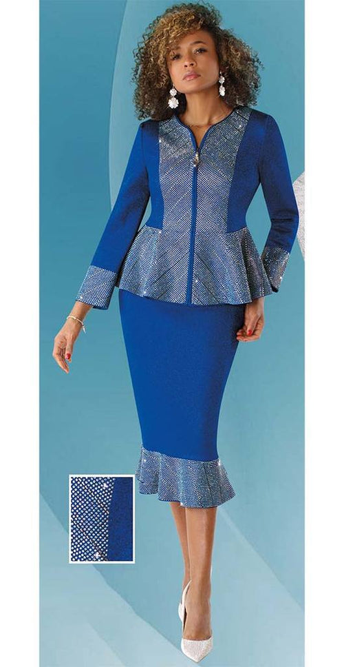 Liorah Knits By Tally Taylor 7246-Royal - Church Suits For Less