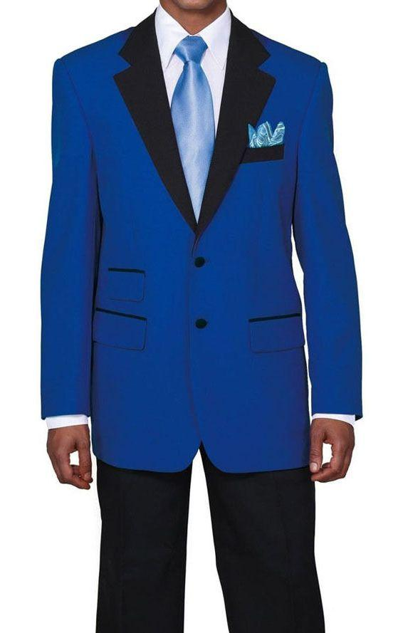Milano Moda Suit 7022-Blue/Black - Church Suits For Less