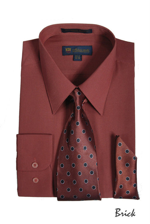 Men Dress Shirt SG21-Brick