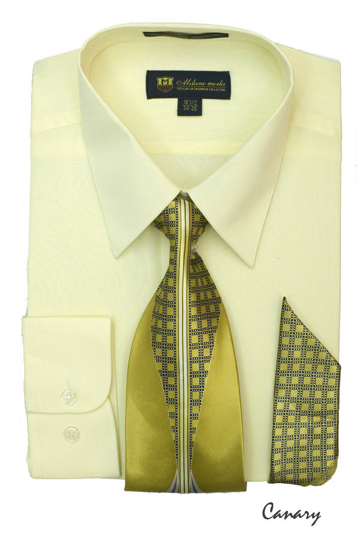 Men Dress Shirt SG21-Canary