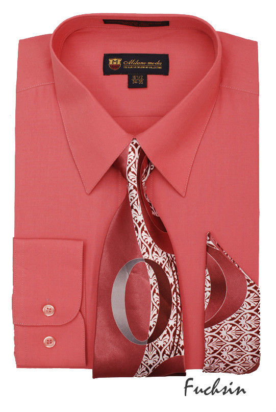 Men Dress Shirt SG21-Fuchsia
