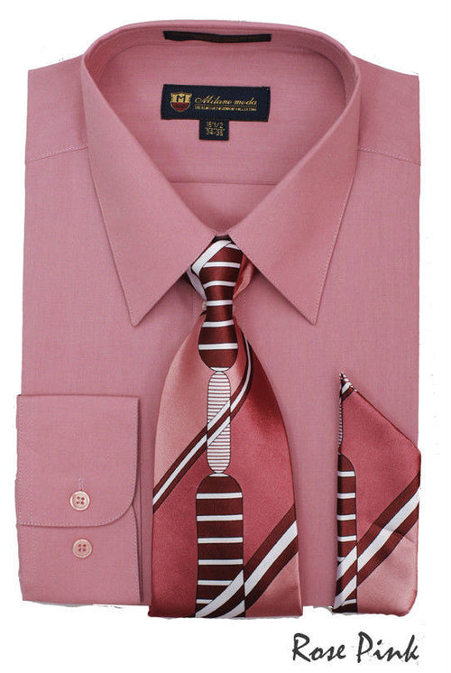 Men Dress Shirt SG21-Rose Pink