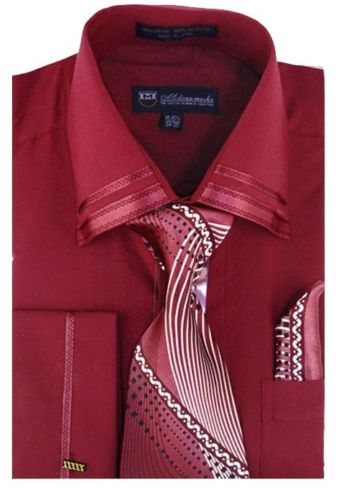 Men Dress Shirt SG28-Burgundy