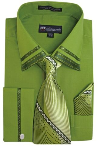 Men Dress Shirt SG28-Olive
