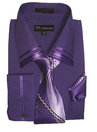 Men Dress Shirt SG28-Purple