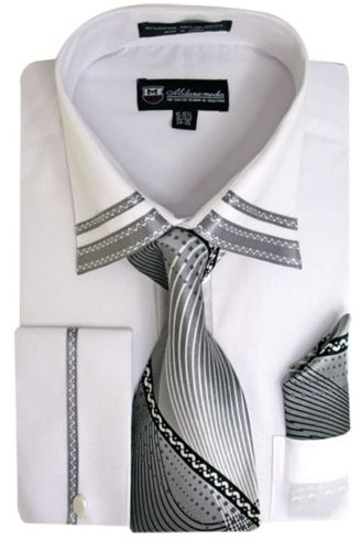 Men Dress Shirt SG28-White