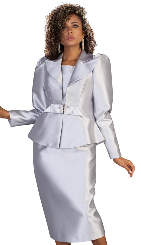 Tally Taylor Suit 4624-Silver - Church Suits For Less