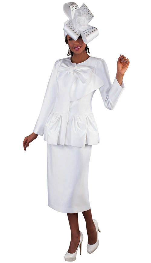 Tally Taylor Suit 4666-White - Church Suits For Less