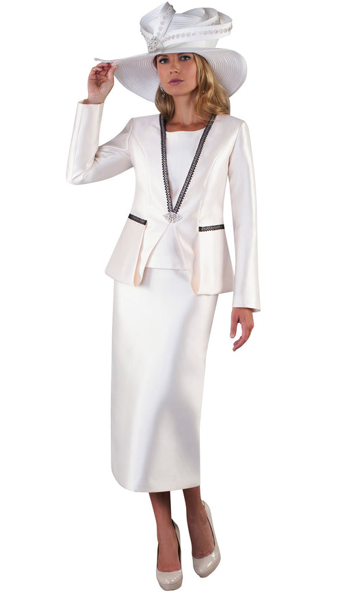 Tally Taylor Suit 4667-Ivory - Church Suits For Less