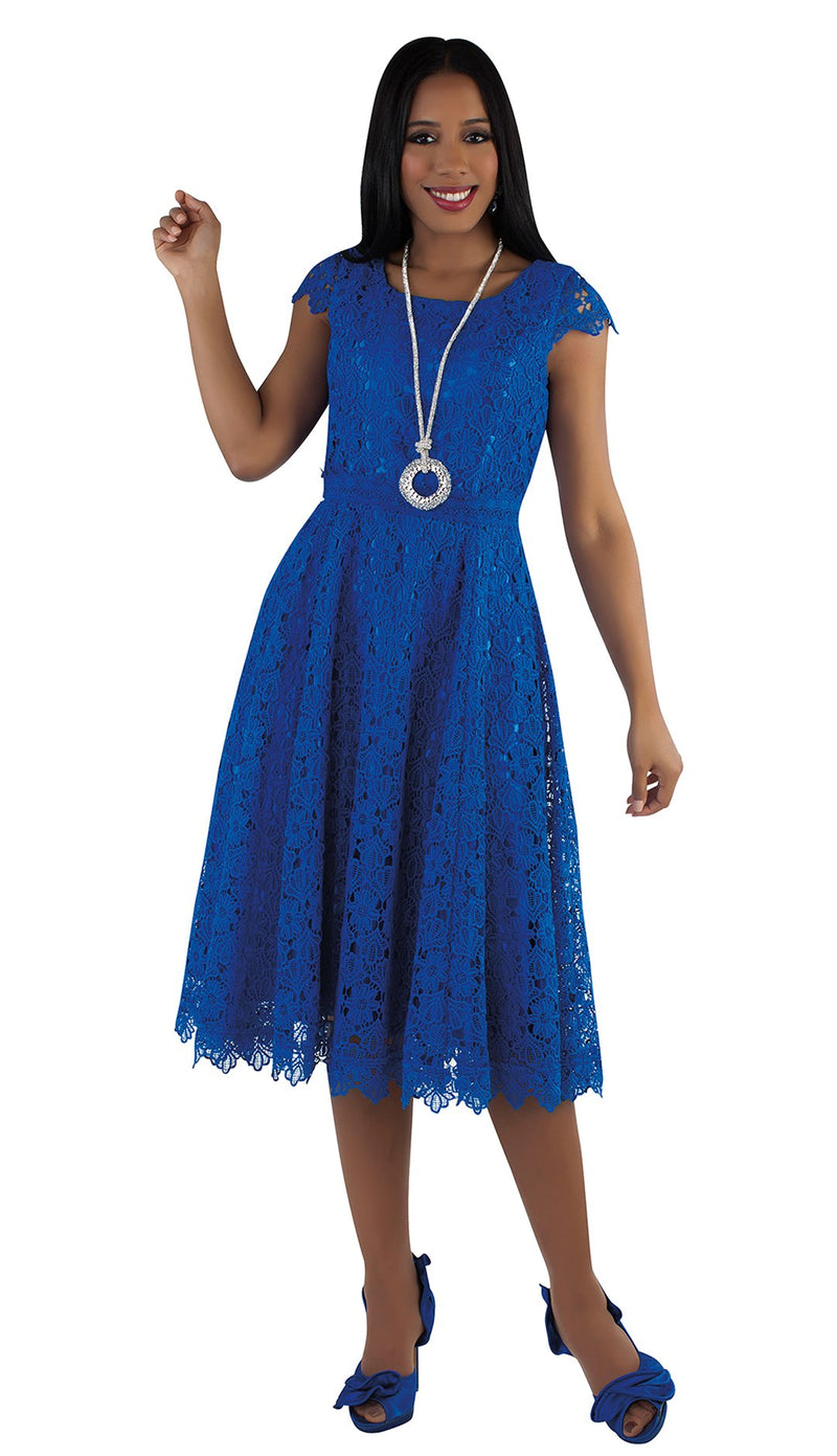 Tally Taylor Dress 4529-Royal Blue - Church Suits For Less