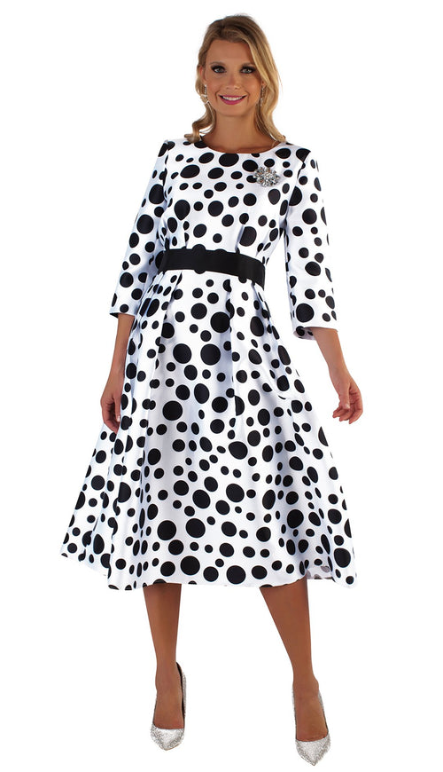 Tally Taylor Dress 4726-Black/White - Church Suits For Less