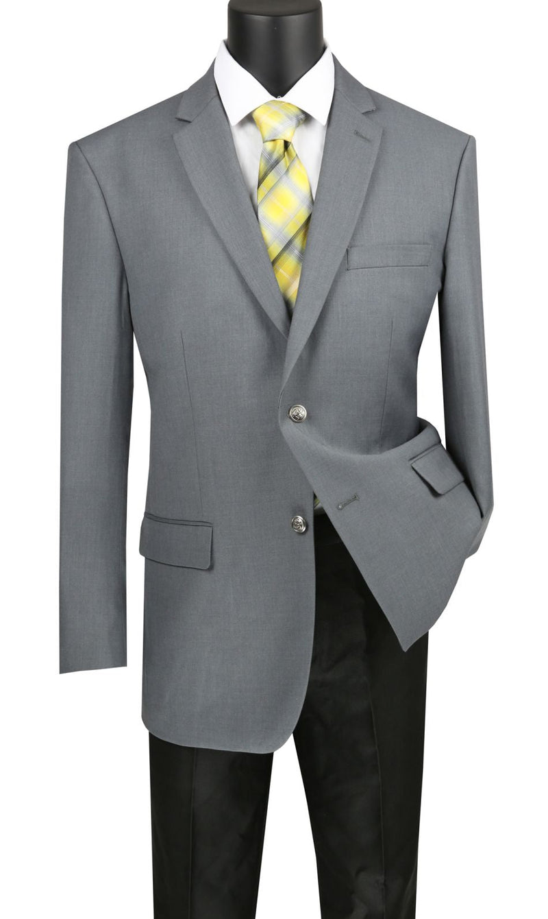Vinci Men Sport Coat B-TR-Medium Grey - Church Suits For Less