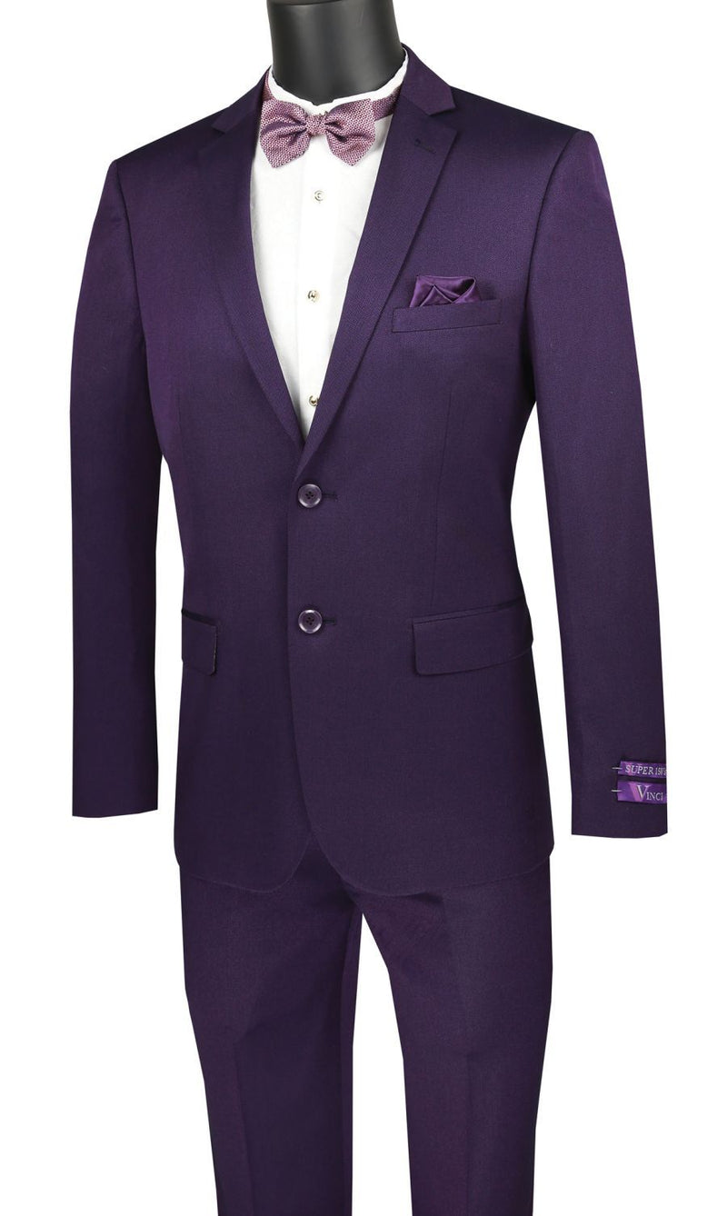 Vinci Men Suit US2R-2-Purple - Church Suits For Less