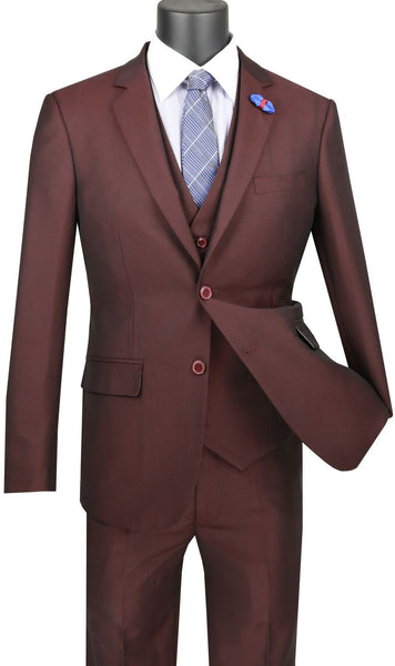 Vinci Men Suit USVD-1-Raisin - Church Suits For Less