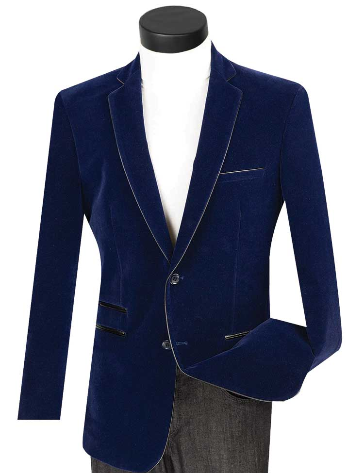 Vinci Sport Jacket BS-02-Navy - Church Suits For Less
