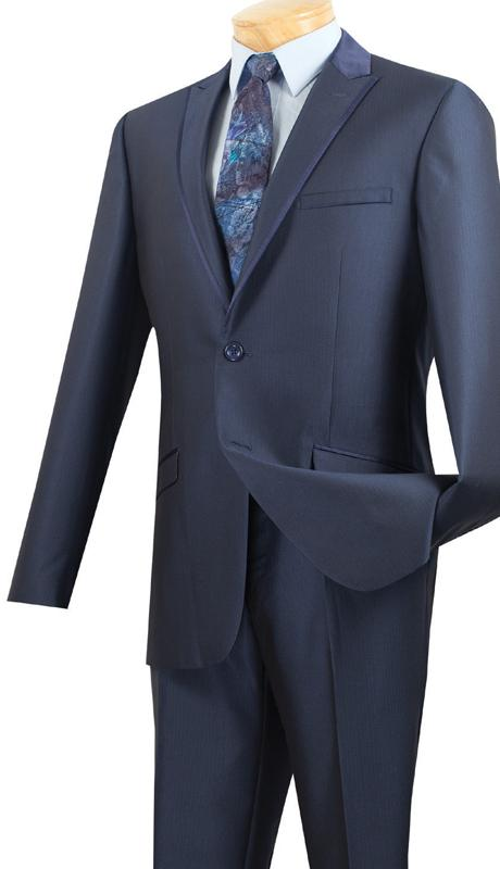 Vinci Suits S2TT-1-Midnight Blue - Church Suits For Less