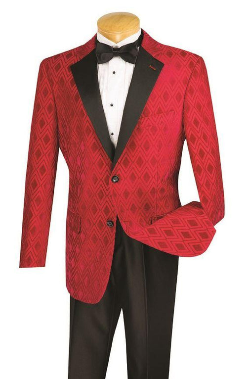 Vinci Men Suit T-DVC-Red - Church Suits For Less