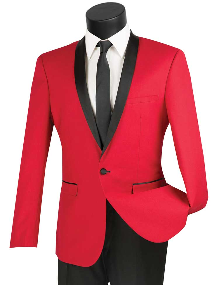 Vinci Tuxedo T-SS-Red - Church Suits For Less