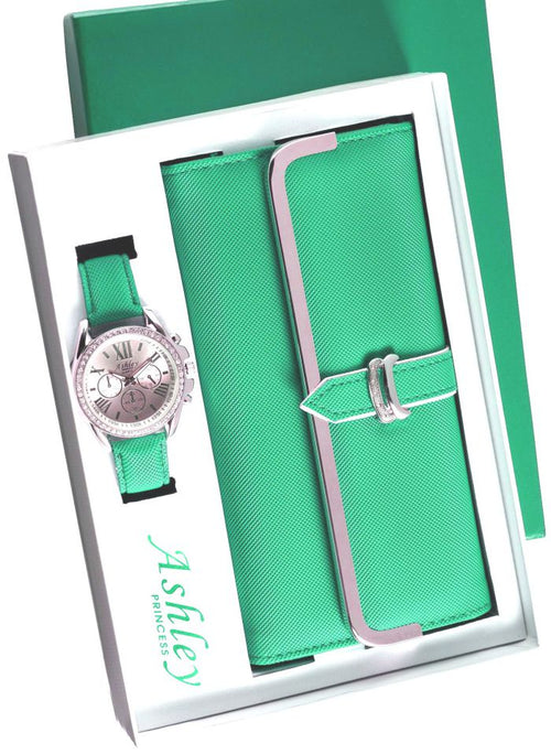 wallet & watch set by Ashley Princess