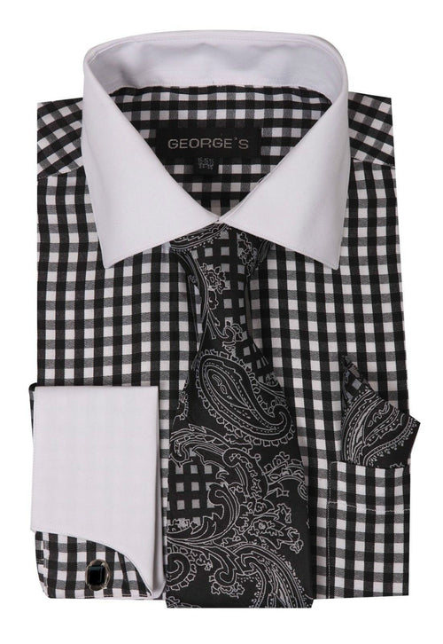 Men Dress Shirt AH615-Black