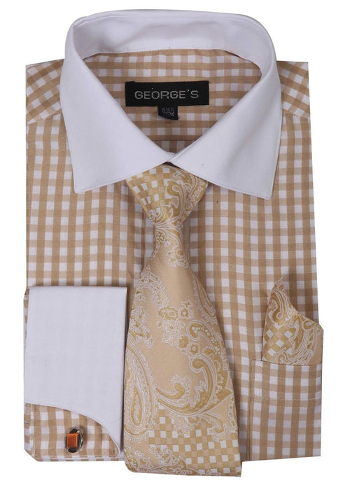 Men Dress Shirt AH615-Tan