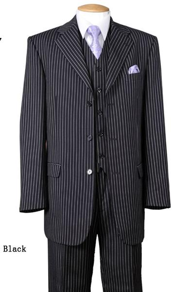 Milano Moda Men Suit 5802V7-Black