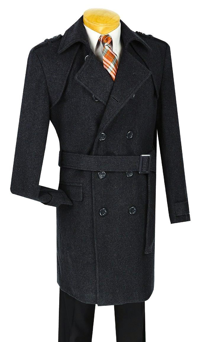 Vinci Men Coat CDS38-2C-Black - Church Suits For Less