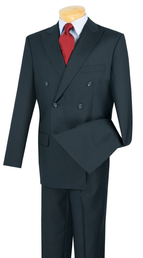 Vinci Men Suit DC900-1C-Navy - Church Suits For Less