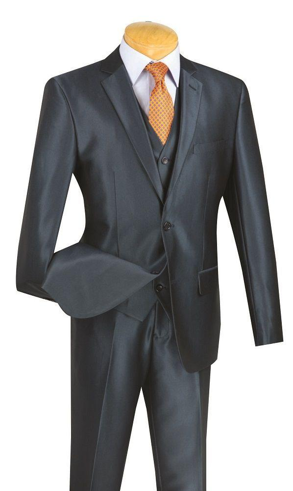 Vinci Men Suit SV2R-2-Blue - Church Suits For Less