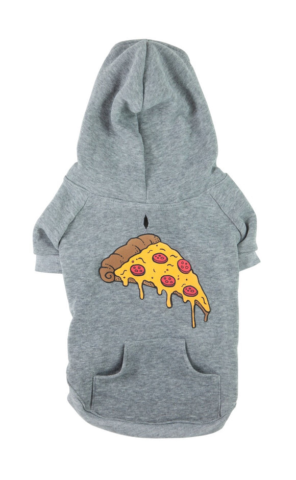 Grey Pizza Hoodie for Pet