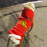 Red Pizza Hoodie for Pet