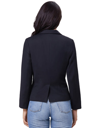 KK Women Ladies OL Lapel Collar One Button Blazer Coat Tops Office Lady Business