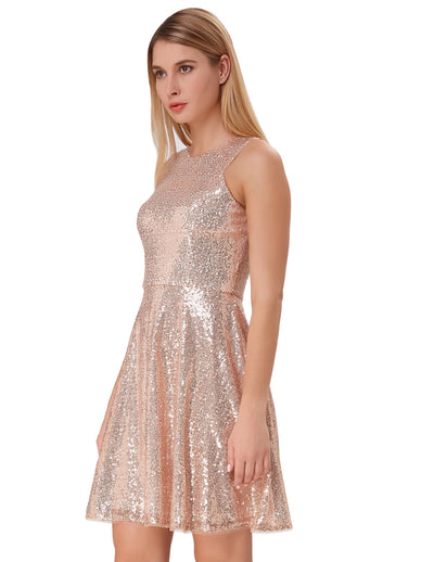 2018 Women's V-neck Evening Party Dress Pageant Bridesmaid Wedding Sequins Dress