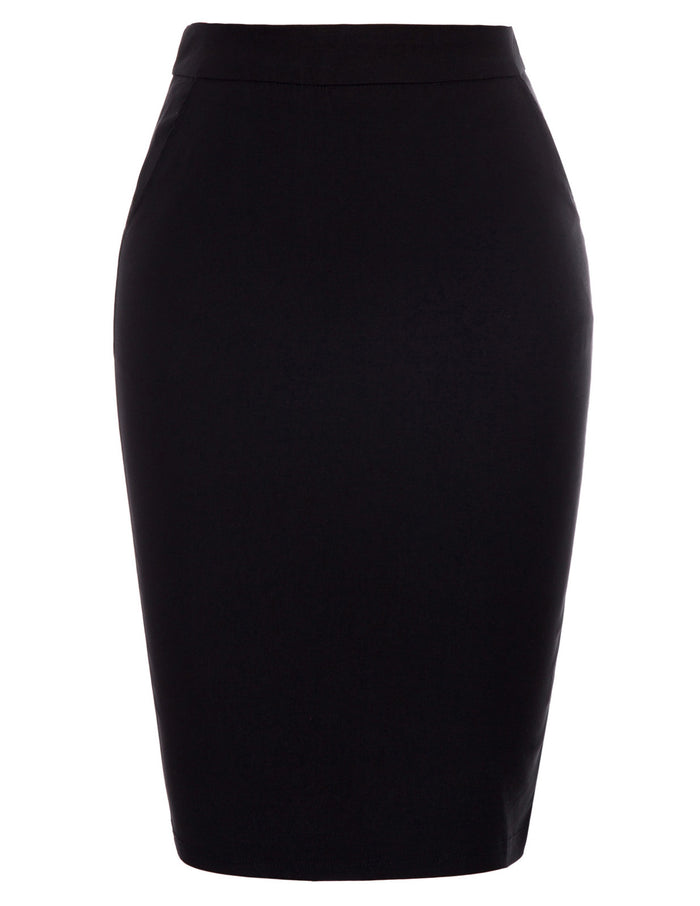 Summer Skirt Office Formal Business Womens Ladies Pencil Hips-wrapped High waist